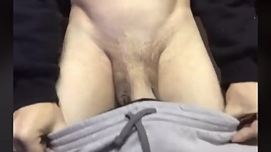 TEEN FLASH HIS BIG COCK ON LIVE!