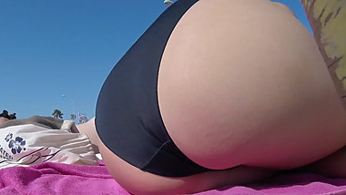 Nerdy Fat Ass Asian at the Beach
