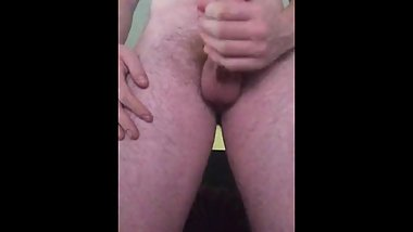 White Hairy Teen Boy Thick Cock Stroking Home Alone