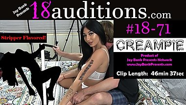 #18-71 21yo Stripper Creampie SmashFest 18auditions - Jay Bank