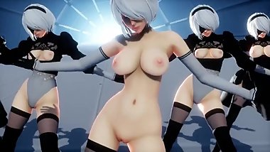 [MMD R18] Welcomed to heaven by 2Bs dance