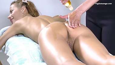 Lika Valasatik super hot hairy babe massaged