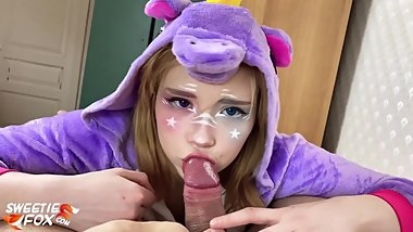 Unicorn Babe Suck and Hardcore Sex Dick - Cosplay