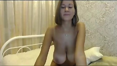 Adorable and sexy college slut having passionate sex
