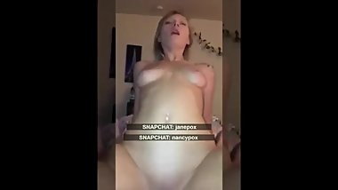 Barely Legal 18 Step Daughter Riding cock of Step Dad Exposed on Snapchat