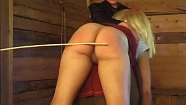 swedish caning on bench