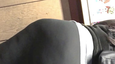 Monster booty again see through leggings vpl