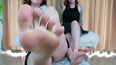 Lick Our Dirty Feet and Jerk with Abbey Rhode and Princess Kaelin 2018
