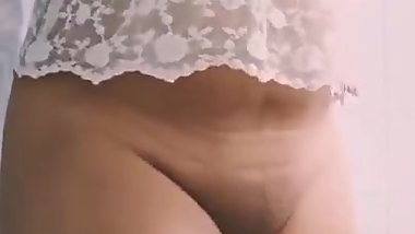 Masturbating and transparent top