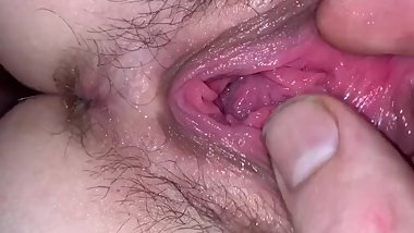 Tiny 18y/o girlfriend has dripping wet orgasms and then gets fucked hard