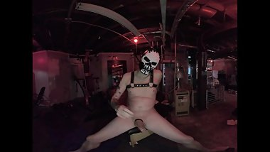 VR Masked Alex Jacks Off in the Dungeon