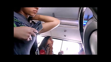 Beautiful Teen Student in Bus