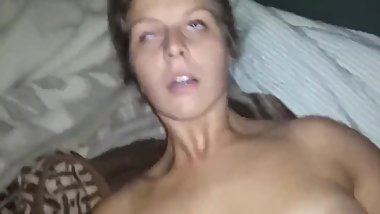 Horny college babe having a real orgasm